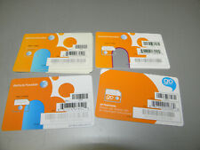 Lot Of 6 At&T Micro Prepaid Go Phone Sim Cards 1-6007a/1-4681B/4-72290 New