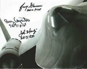 Blackbird SR71 multi signed by 3 aircrew photo COA UACC & AFTAL reg Dealer
