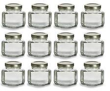 Nakpunar 12 Pcs 3.75 Oz Oval Hexagon Glass Jars For Jam Honey Wedding Favors