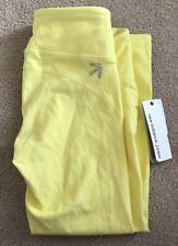 Womens New Balance x J. Crew Yellow Low Rise Blue Stretch Capri Leggings XS