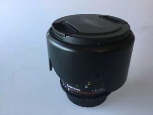 Samyang Rokinon 50mm CINE VDSLR T1.5 Nikon F mount with Canon EOS EF adapter