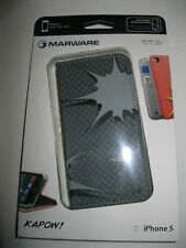 MARWARE AEKA11  KAPOW iPhone 5 WALLET CASE - BLACK/GRAY MICRO SUEDE INTERIOR