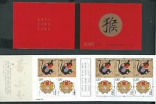 China 2016-1 New Year of Monkey Stamp Booklet Zodiac Animal 猴小本 直本 SB-53