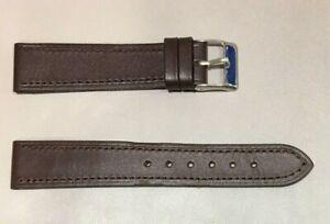 Pulsera Correa de Reloj Piel Legítima Cuero 18 mm Marrón Oscuro   Watchband 240