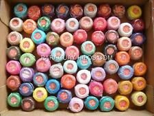 50 DIFFERENT COLORS LOT 50 BALLS PEARL/PERLE COTTON #8 THREADS HAND EMBROIDERY