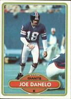 1980 Topps Football Card #454 Joe Danelo - EX-MT