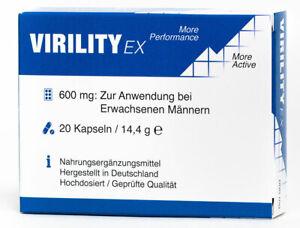 Virility EX © FÜR AKTIVE ERWACHSENE MÄNNER KAPSELN . 20 STÜCK HOCHDOSIERT