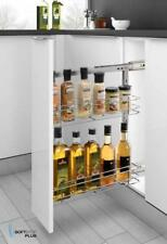SOFT CLOSE PULL OUT PANTRY DOUBLE WIRE BASKET KITCHEN ORGANISER STORAGE 200MM