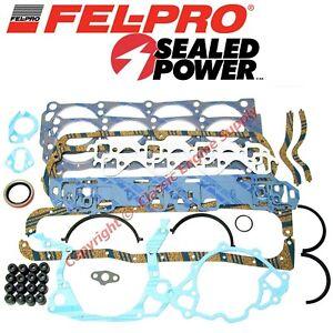 New Fel Pro Engine Overhaul Gasket Set 1969-1974 Ford sb 351W Windsor