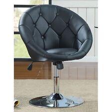 Vanity Stool Seat Tufted Dressing Desk Chair Bedroom Furniture Swivel Black Home