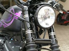 Harley Iron Nightster Sportster 39er Rohr sw/alu mit 4 breite Rillen Gabelcover
