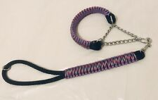 Custom Made King Cobra Paracord Martingale dog collar And Matching Short Lead