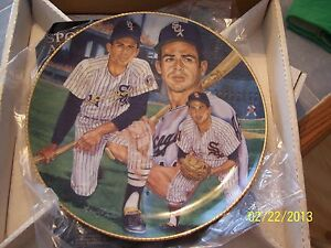 LUIS APARICIO SIGNED in GOLD AUTOGRAPHED  L. Ed. PLATE GARTLAN Chicago White Sox