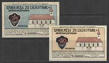 German NOTGELD LILIENTHAL #L780d Complete Set of 2 UNC RETAIL VALUE = $12+