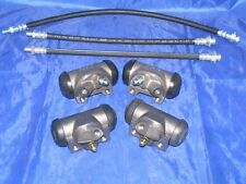 4 Wheel Cylinders & Brake Hoses 1956 56 Lincoln NEW