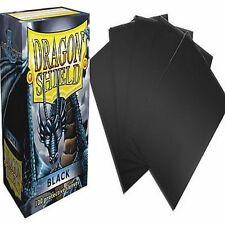 100 Bustine Protettive Magic DRAGON SHIELD Black Nero Sleeves Porta Mazzo MTG