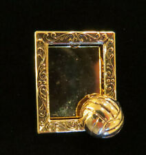 Volleyball Photo Frame Pin 24 Karat Gold Plate Personalize with your Photo