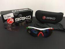 Briko Endure Pro Team-Blanco/Rojo/Verde Repuesto Lentes claras.
