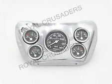 NEW WILLYS JEEP COMPLETE SPEEDOMETER MOUNTING CHROME PLATE #G262 (C0DE-3213)