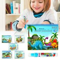 New Toy w/Pen Kids Water Coloring Drawing Book Painting Portable X6N2