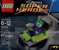 Lego Joker minifigure + pie Bumper Car DC Comics Super Heroes #30303 New in Bag