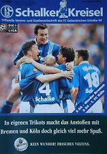 Programm 1997/98 FC Schalke 04 - Werder Bremen / 1. FC Köln