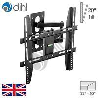 """Dihl Swivel Tilt Wall Mount TV Bracket 32 42 48 50 55"""" LED LCD Plasma Cantilever"""