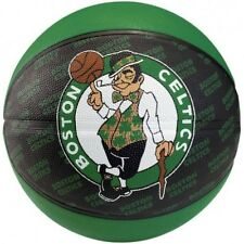 Spalding Official Boston Celtics NBA Team Spalding Basketball 7 Black Green