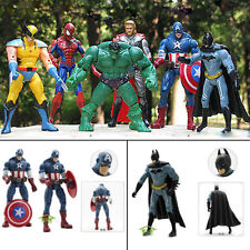 6 set super hero Marvel DC HULK Wolverine Batman Movie Avengers Action Figures