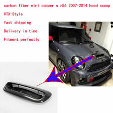 Carbon Fiber Hood Bonnet Scoop Vent Cover Body Kit For Mini Cooper S R56 07-14 V