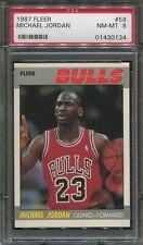 1987 Fleer Basketball #59 Michael Jordan psa 8 Nm-Mt  2nd Year
