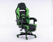 Poltrona/Sedia Gaming o ufficio con braccioli, Mod. GT049 BLACK/GREEN