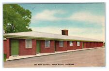BATON ROUGE, Louisiana LA ~ Roadside VEL ROSE COURTS ca 1940s Linen Postcard
