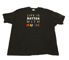 Life Is Better With Music Ft Worth Orchestra Black 2XL