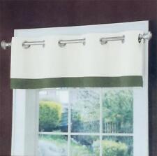 "Grommet Valances, Tobin, 15 ""x50"", 086943, Color: Natural /Olive, Cotton, NIP"