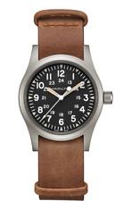 Hamilton Khaki Field Mechanical Black Dial Leather Band Men's Watch H69439531