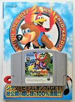 Banjo-Kazooie Video Game with Guide for Nintendo N64 NTSC-J Japanese TESTED