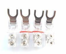 Spade Connector WBT0681AG 8mm WBT Nextgen Pure Silver set 4 speaker cable spade