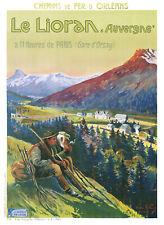 Affiche chemin de fer Orléans - Auvergne Lioran 2