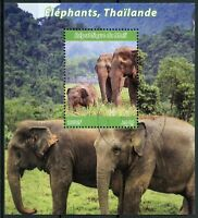 Mali 2018 CTO Elephants in Thailand 1v M/S Trees Wild Animals Stamps