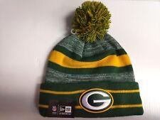 912f3d6b7 Green Bay Packers New Era Knit Hat Striped Cuff Pom Beanie Stocking Cap NFL