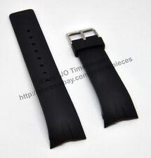 Comp. Nautica A21005G A23001G  N13530G - 28mm Black Rubber Watch Band Strap