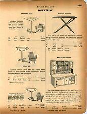 1934 ADVERTISEMENT Wolverine Toy Kitchen Cabinet Hoosier Seller Type
