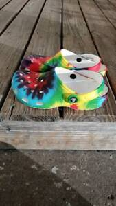 Crocs Classic Tie Dye Graphic Clog Men's 5 Women's 7 Great Condition