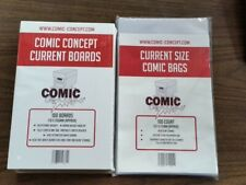 More details for 100 x current size comic concept comic book backing boards and bags out of stock