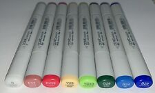BRAND NEW COPIC DUEL TIP SKETCH MARKERS~ Lot of 8 Markers~ Various Colors Unused