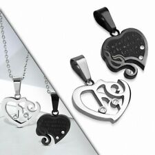 Pendant Couple Music Black/Silver