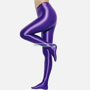 LEOHEX Women Glitter Sexy Pantyhose Satin Glossy Opaque Shiny Tights Gamaschen