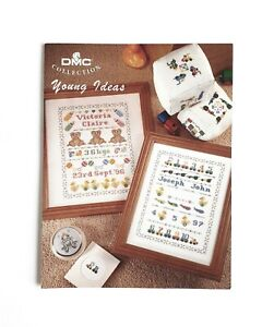 DMC Cross Stitch Pattern Young Ideas Sampler Toy Picture Vintage Maria Diaz