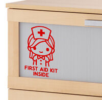 Emergency First Aid Kit Inside Vinyl Wall Sticker Decal Sign Safety Health NURSE